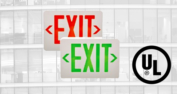UL Listed Emergency and Exit Lights to its Range