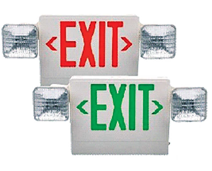 LED Exit/Emergency Light Combination