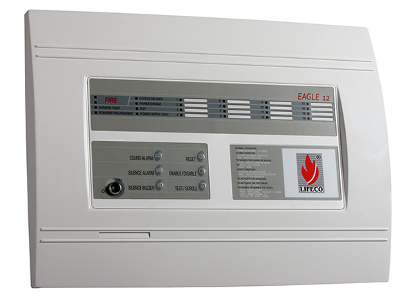 12 Zone Fire Alarm Control Panel – Eagle 12