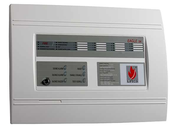 16 Zone Fire Alarm Control Panel – Eagle 16