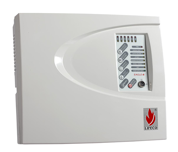6 Zone Fire Alarm Control Panel – Eagle 6