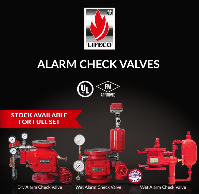 LIFECO's UL & FM Alarm Check Valves