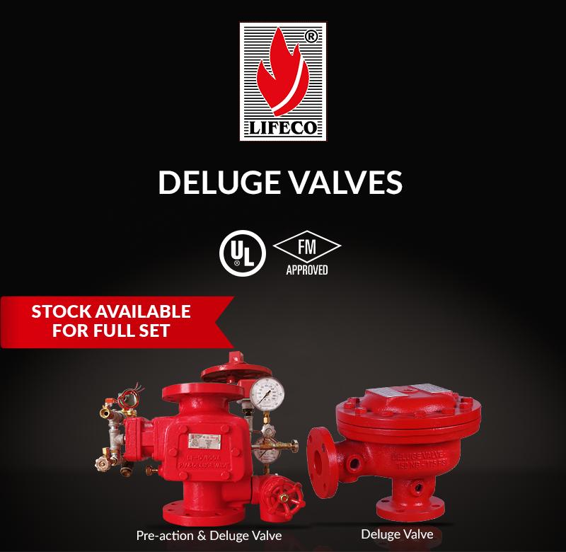 LIFECO's UL & FM Deluge Valves