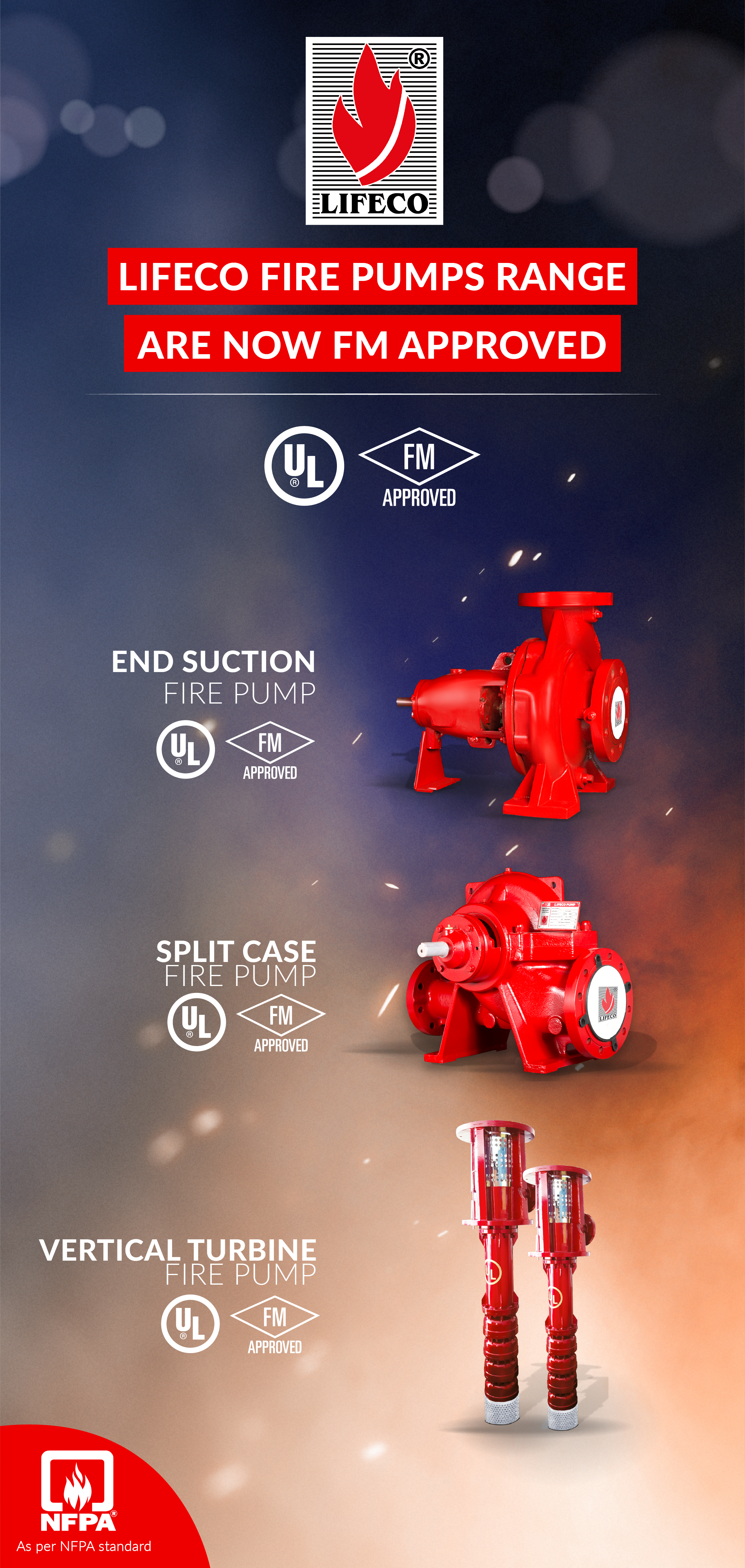LIFECO FIRE PUMPS RANGEARE NOW FM APPROVED!